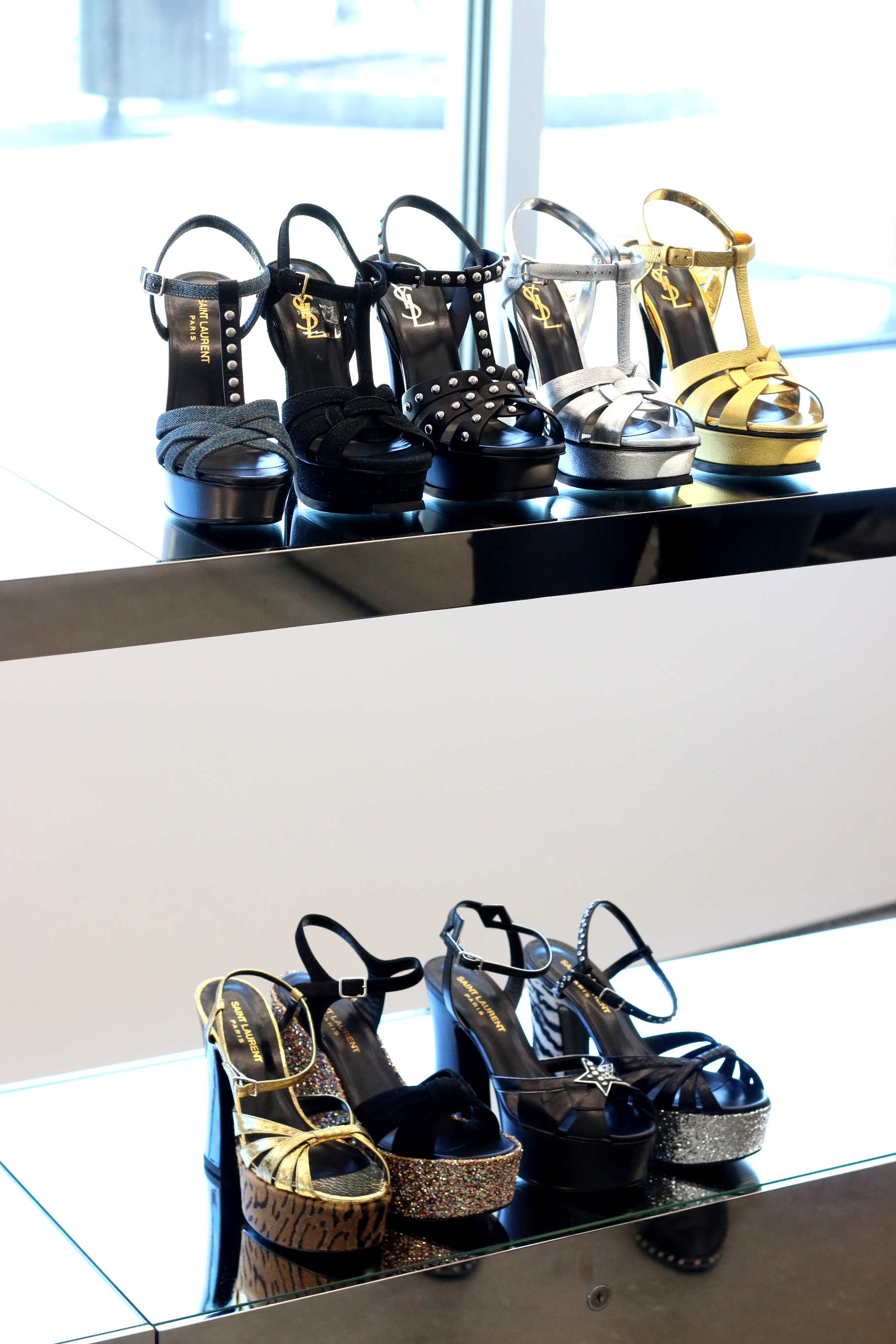 SAINT LAURENT SHOES AT WOODBURY COMMON OUTLET MALL