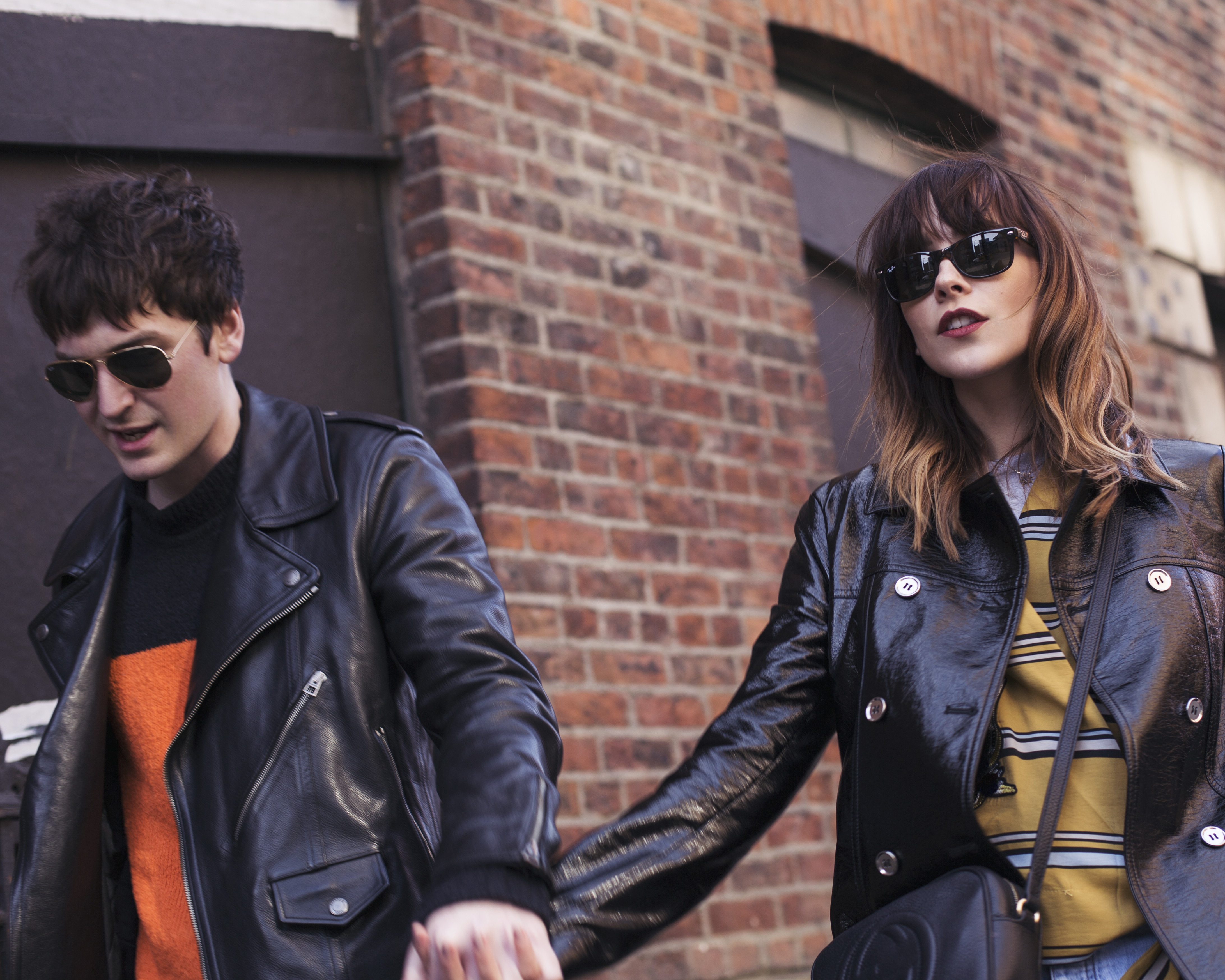 MANCHESTER BASED MEGAN ELLABY AND GEORGE CRAIG MODEL FOR RAY BAN SS17