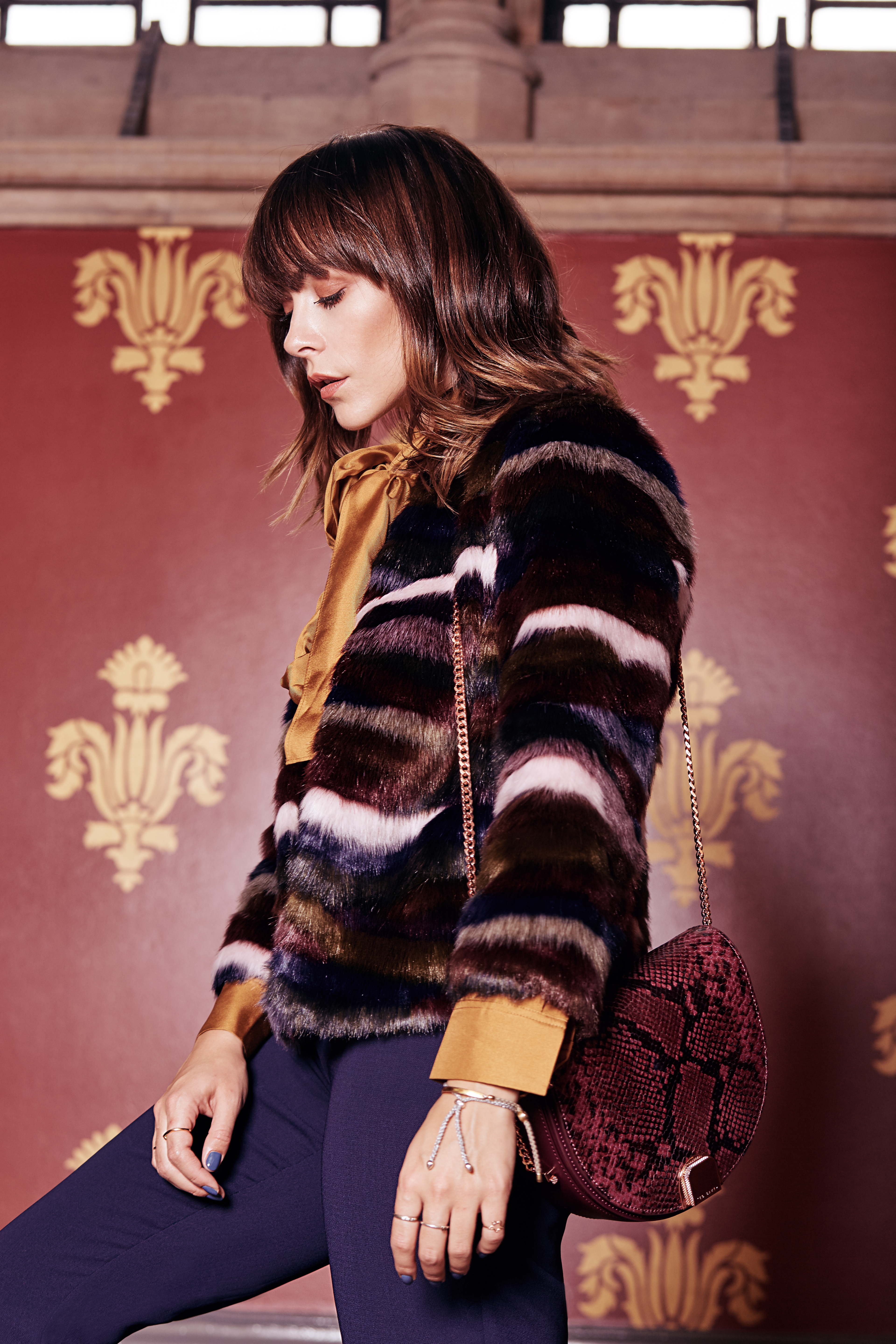 MEGAN ELLABY COLOURFUL FAUX FUR