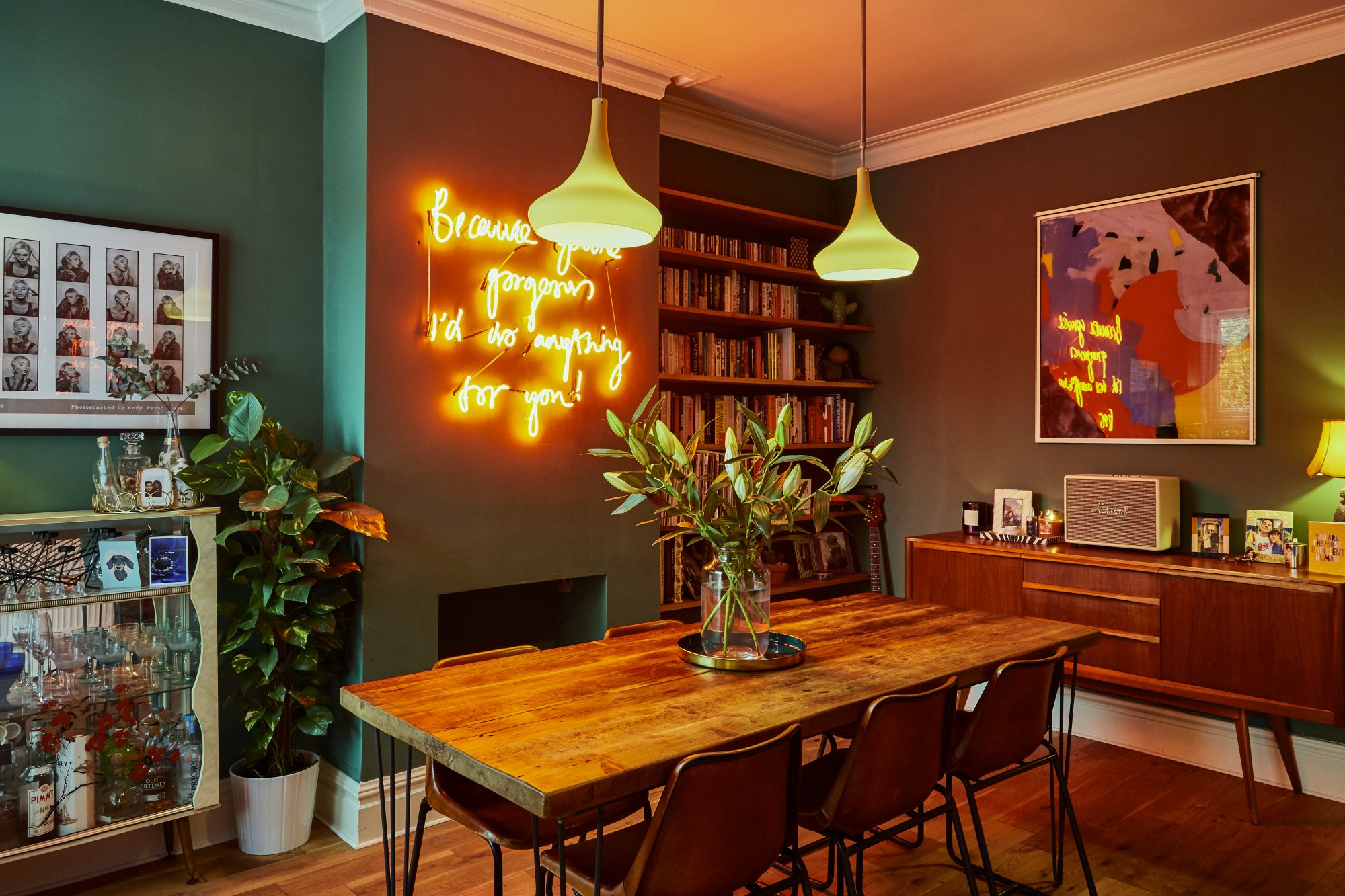 how to include a neon light at home