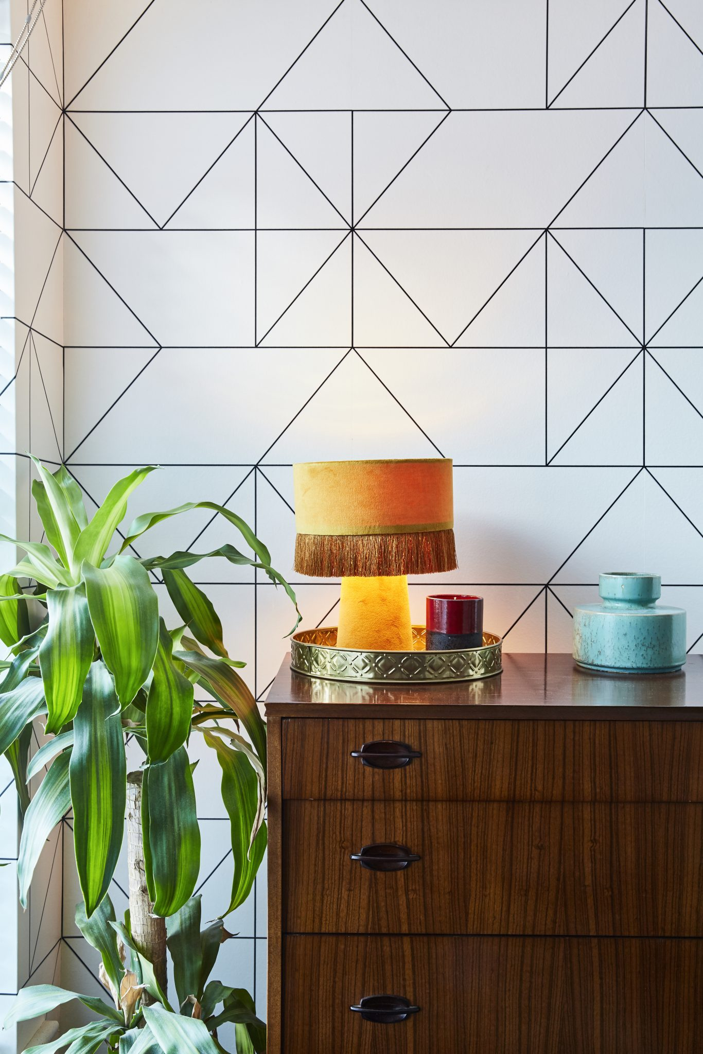 geometric wallpaper ideas